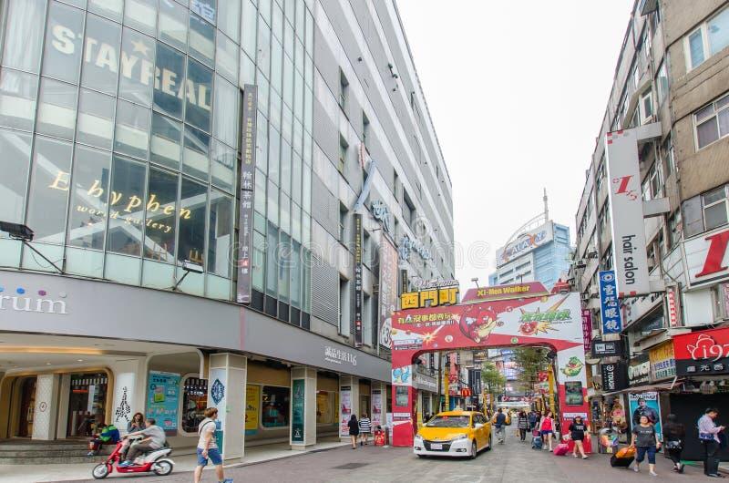 Dagscène van Ximending, Taiwan royalty-vrije stock afbeeldingen