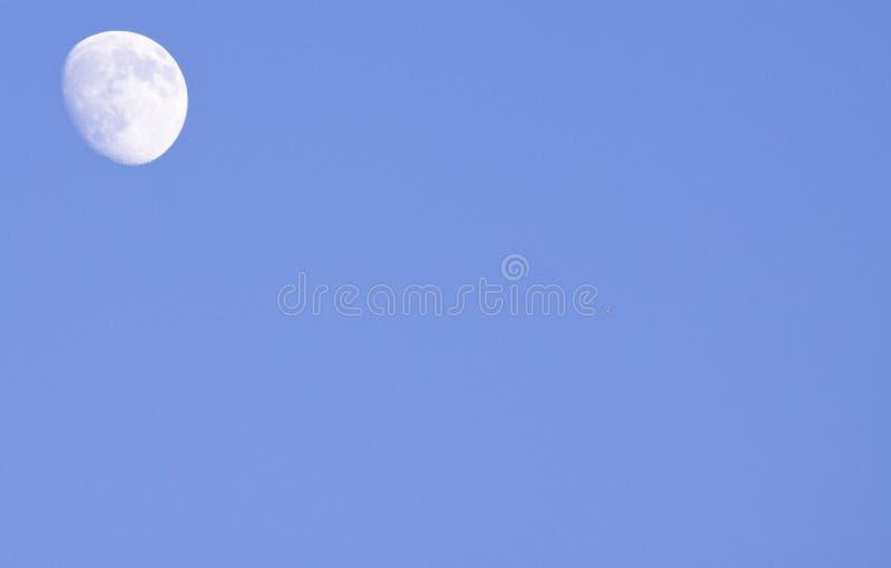 dagsljusmoon royaltyfria foton