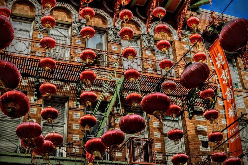 Dagtocht aan Chinatown in San Francisco California royalty-vrije stock foto's