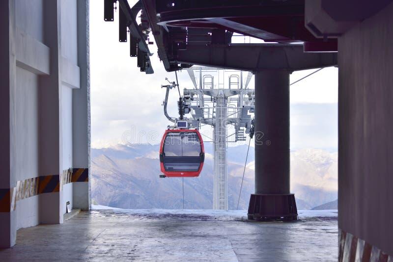 Dagu lodowa turystyki sceniczny cableway zdjęcie stock