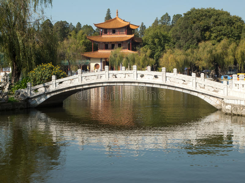 Daguan Park in Kunming. Province Yunnan in China royalty free stock photography