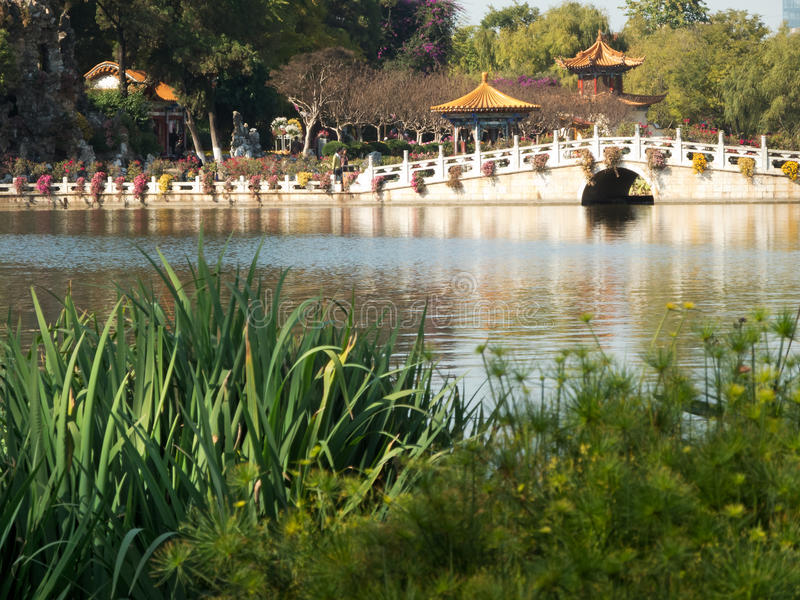 Daguan Park in Kunming. Province Yunnan in China royalty free stock photo