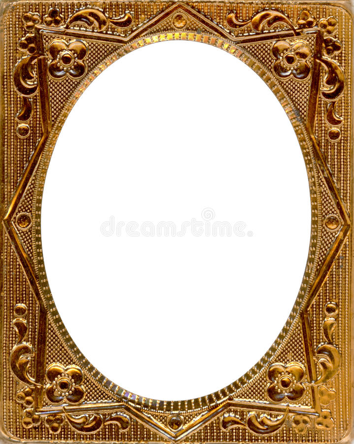 Daguerreotype frame with Clipping Path royalty free stock image