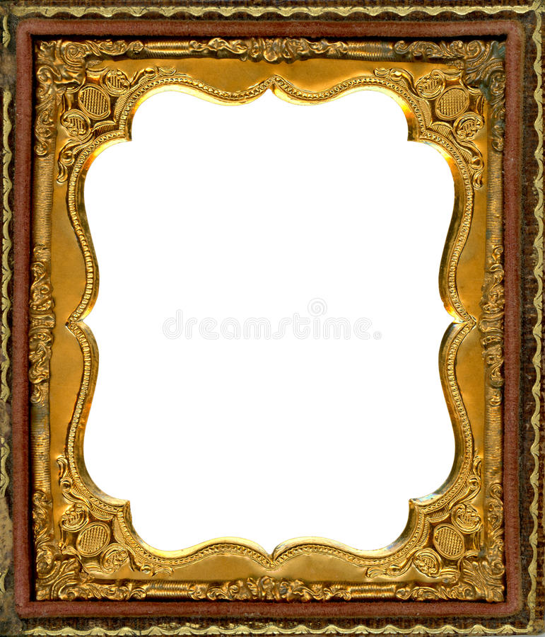 Daguerreotype frame with Clipping Path stock photography