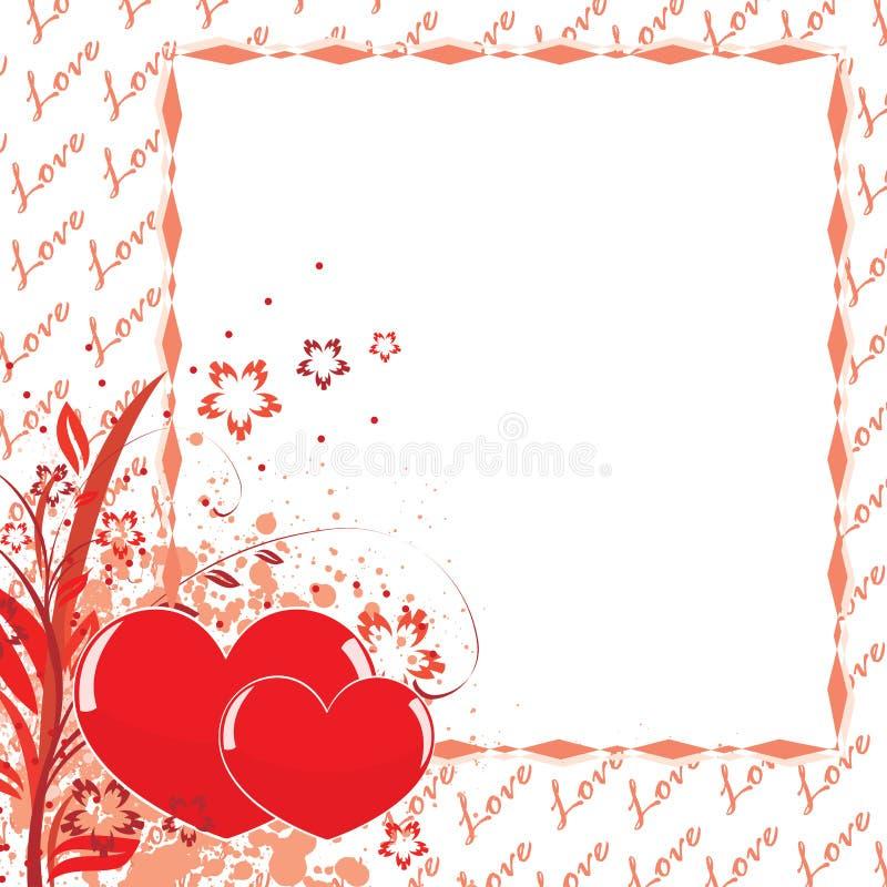 dagvykort s till valentinen vektor illustrationer