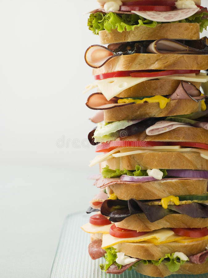 Dagwood Tower Sandwich Royalty Free Stock Image