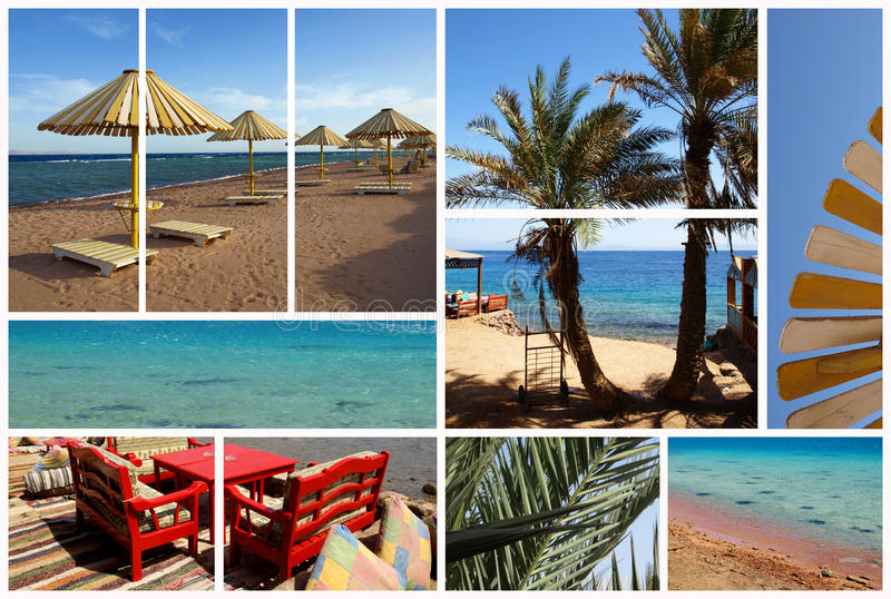 Dahab in collage royalty free stock image