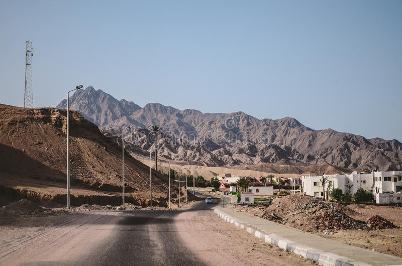 Dahab-Stadt in Ägypten lizenzfreie stockfotos