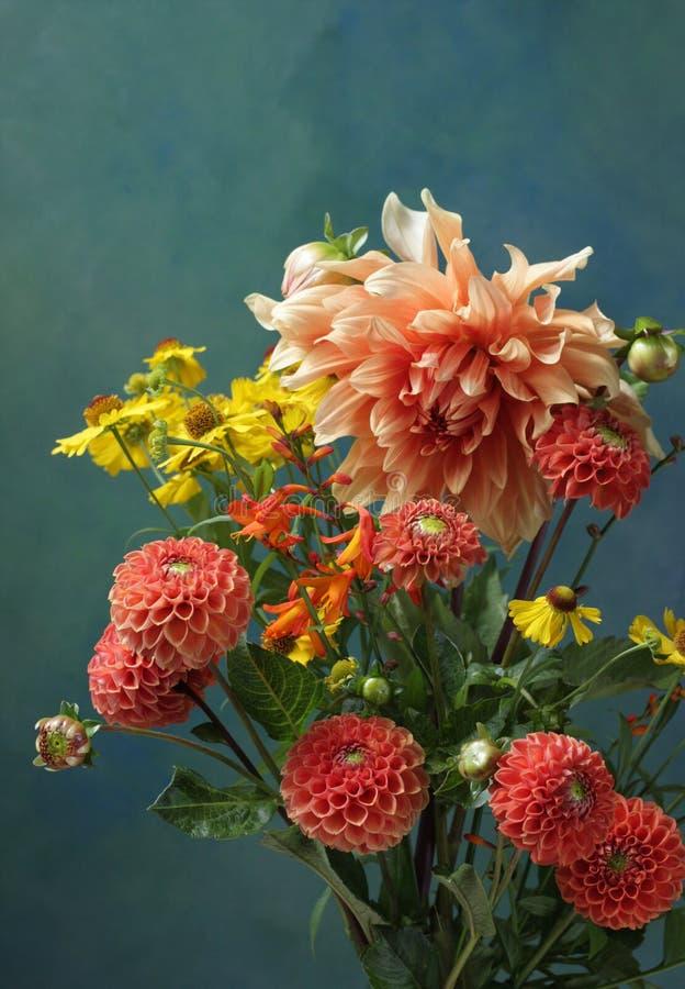 Dahlia Bouquet royalty-vrije stock foto's