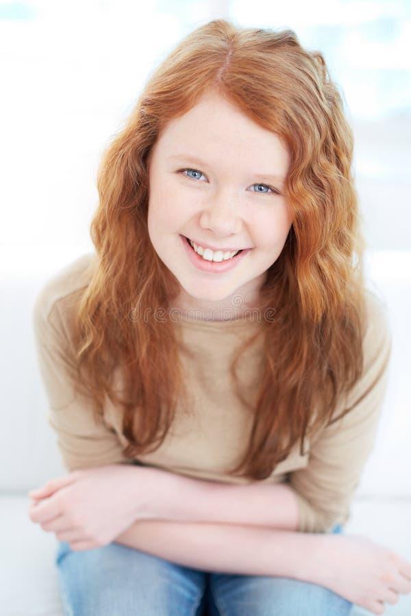 Dai capelli rossi sveglio immagini stock libere da diritti