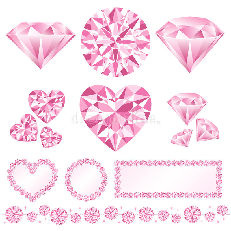 daiamond粉红色 向量例证
