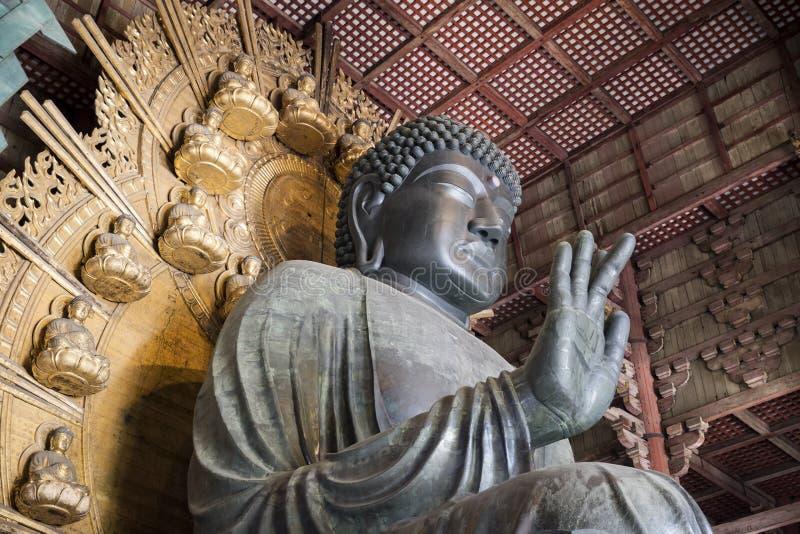 Daibutsu在Todaiji寺庙的Daibutsu小室 库存照片
