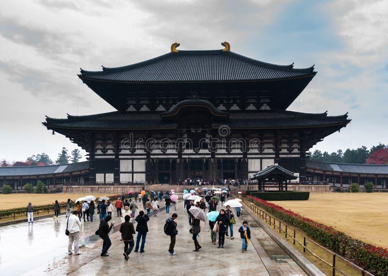 Daibutsu-κρησφύγετο «μεγάλη αίθουσα του Βούδα» σε Todai-todai-ji, Νάρα στοκ φωτογραφία με δικαίωμα ελεύθερης χρήσης