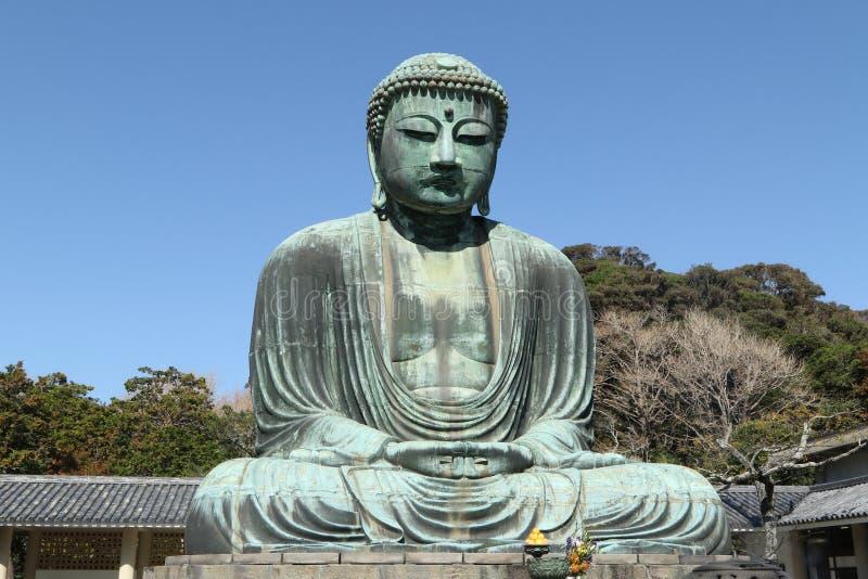 Daibutsu, μεγάλο άγαλμα του Βούδα, Ιαπωνία στοκ εικόνα με δικαίωμα ελεύθερης χρήσης