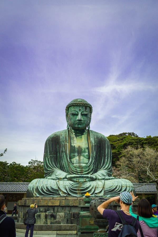 Daibutsu, Amida Boedha bij KÅ  toku-binnen, Kanagawa, Japan royalty-vrije stock fotografie
