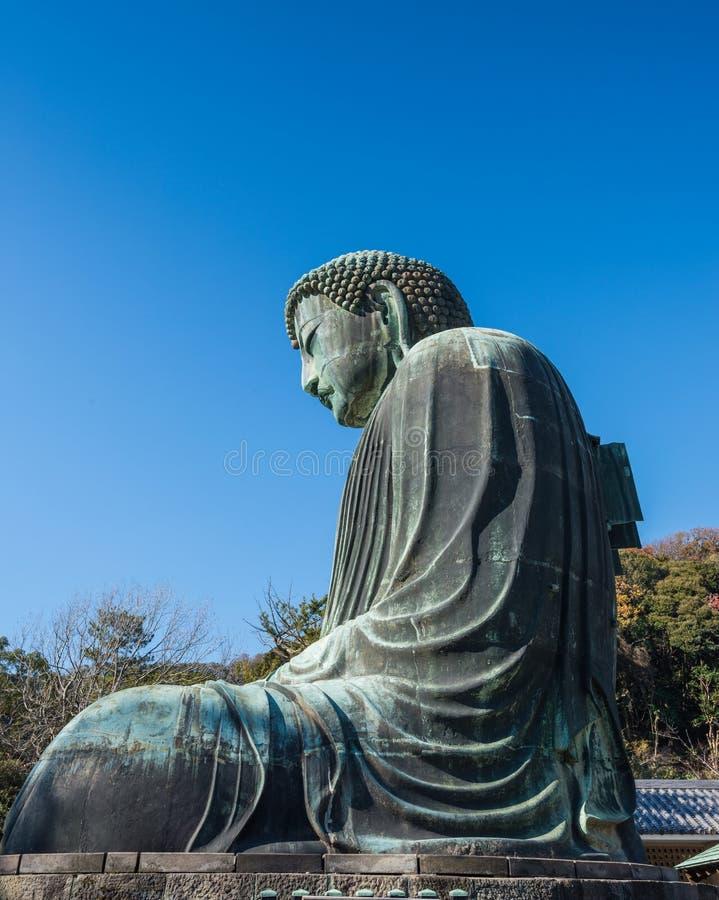 Daibutsu - gran Buda del templo de Kotokuin en Kamakura, Kana imagenes de archivo