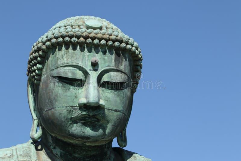 Daibutsu, het Grote standbeeld van Boedha, Japan stock fotografie
