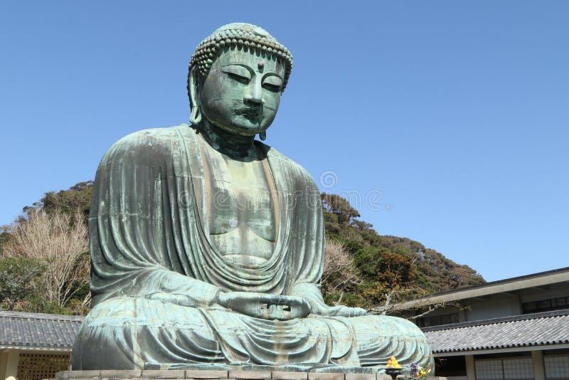 Daibutsu, het Grote standbeeld van Boedha, Japan royalty-vrije stock afbeelding