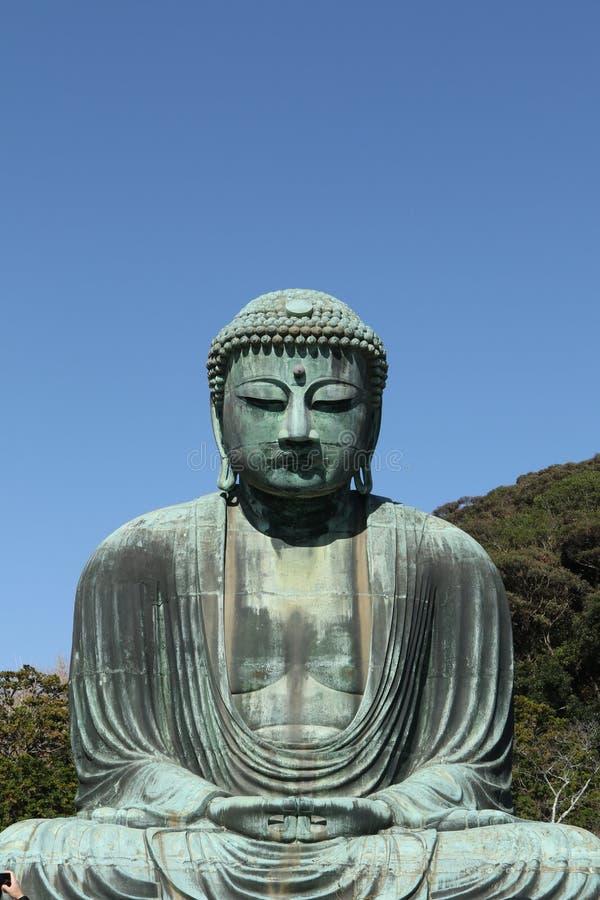 Daibutsu, het Grote standbeeld van Boedha, Japan royalty-vrije stock foto