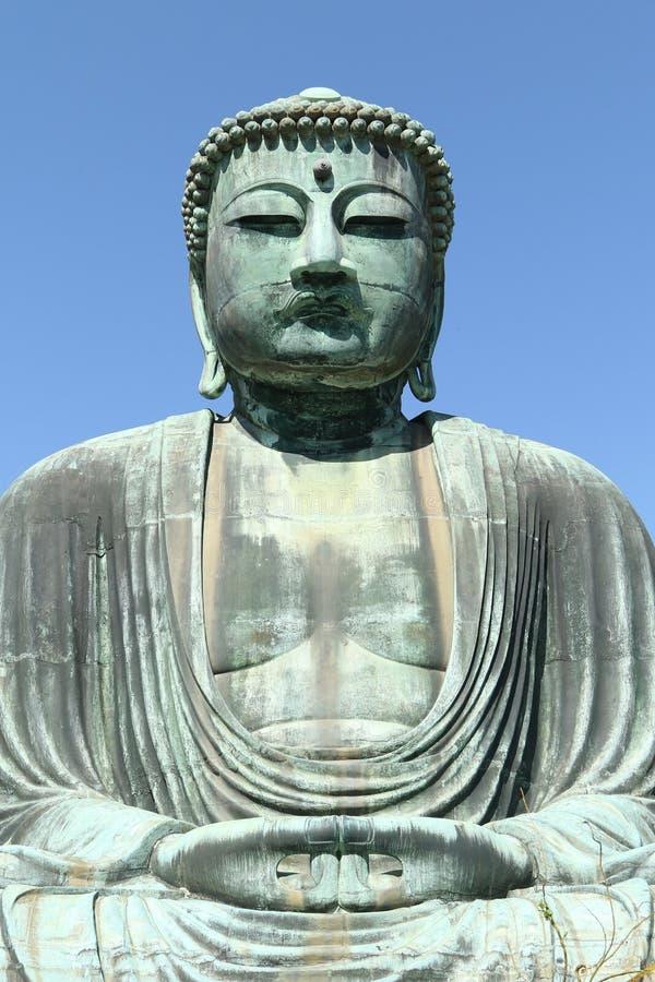 Daibutsu stor Buddhastaty, Japan arkivbild