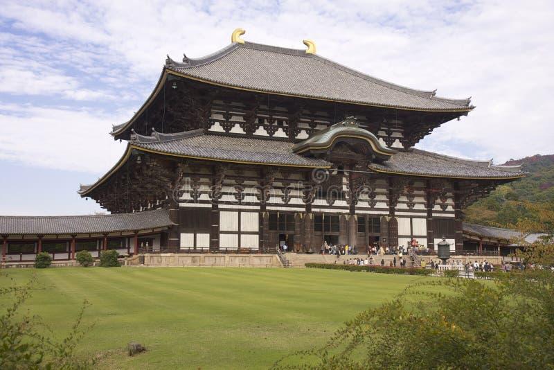 Daibutsuden bij Todai -todai-ji Tempel, Nara, Japan royalty-vrije stock afbeeldingen