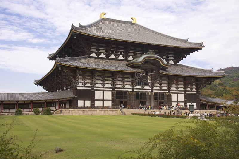 Daibutsuden en el templo de Todai-ji, Nara, Japón imágenes de archivo libres de regalías