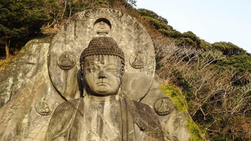 Daibutsustandbeeld in Nokogiriyama, Chiba, Japan royalty-vrije stock foto