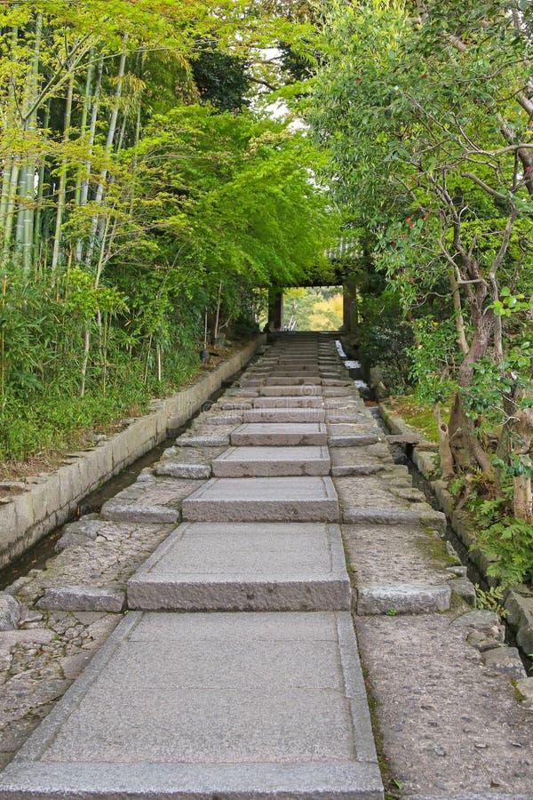 Daidokoro-zaka kamienia kroki w Higashiyama w Kyoto, Japonia obrazy stock