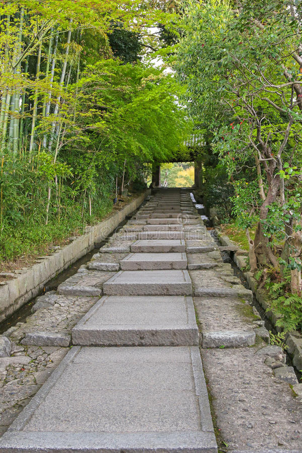 Daidokoro-zaka lapida i punti in Higashiyama-ku a Kyoto, Giappone immagini stock