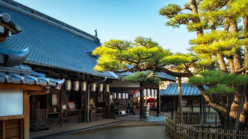 Daiganji Shinto shrine -Miyajima Island, Japan. Miyajima Island, Hiroshima Bay, Japan -November 2018: Itsukushima Shrine -Local Daiganji Shinto shrine on a royalty free stock photos