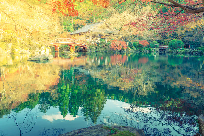 Daigo籍寺庙在秋天,京都,日本 库存图片