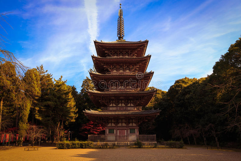 Daigo籍寺庙 库存图片