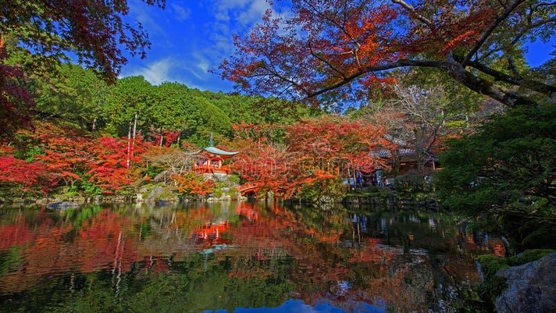 Daigo-daigo-ji ναός με τα δέντρα φθινοπώρου, Κιότο στοκ εικόνες