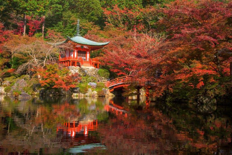 Daigo-ji tempel på nedgången, Kyoto royaltyfri bild