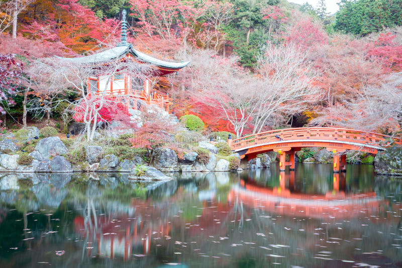 Daigoji Świątynny Kyoto Japonia fotografia royalty free