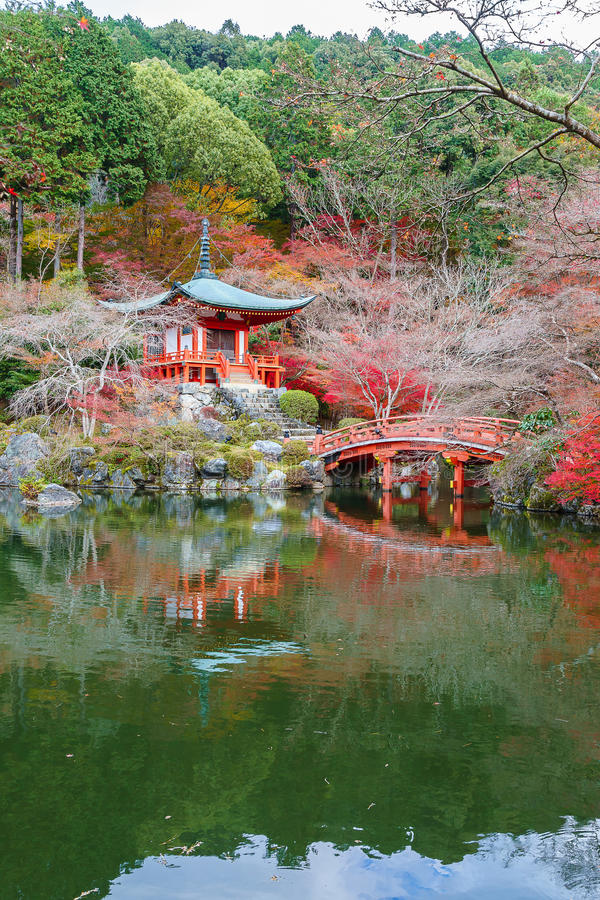 Daigoji Boeddhistische Tempel in Kyoto, Japan royalty-vrije stock foto's