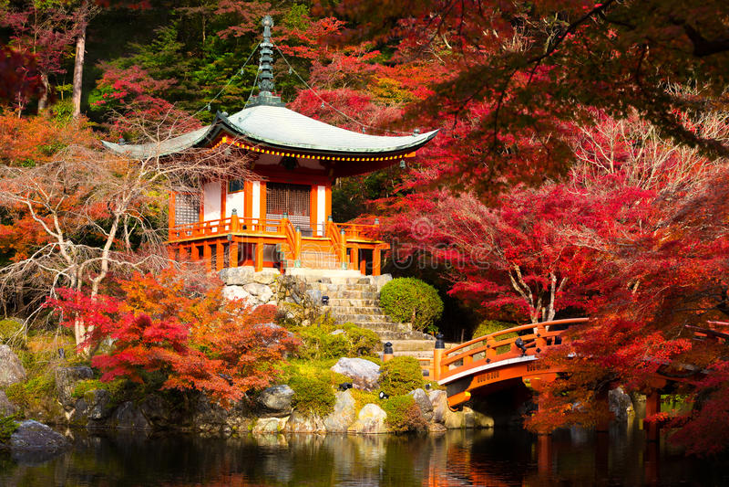 Daigoji tempel fotografering för bildbyråer