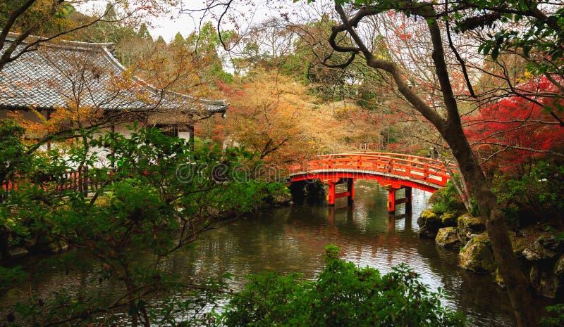 Daigoji tempel, höst i Kyoto royaltyfri fotografi