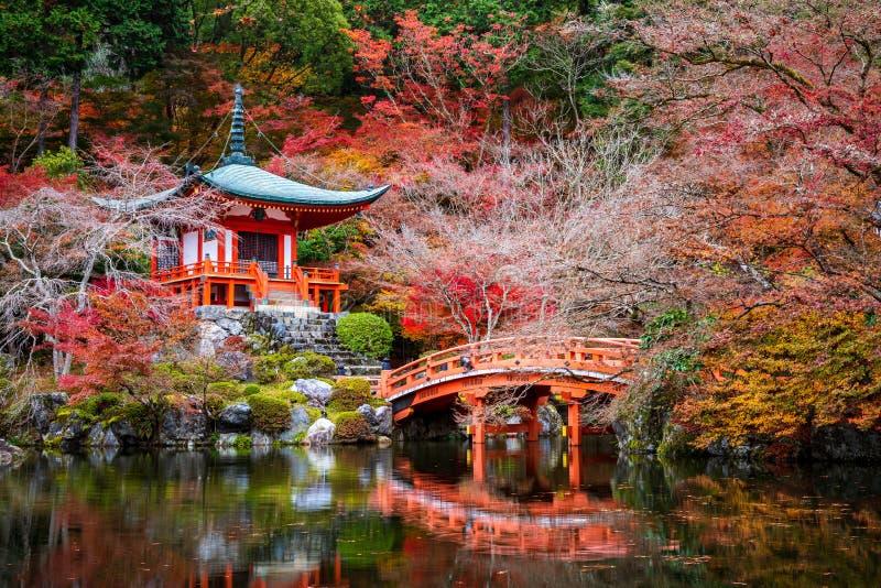 Daigoji tempel i höst, Kyoto, Japan arkivbilder