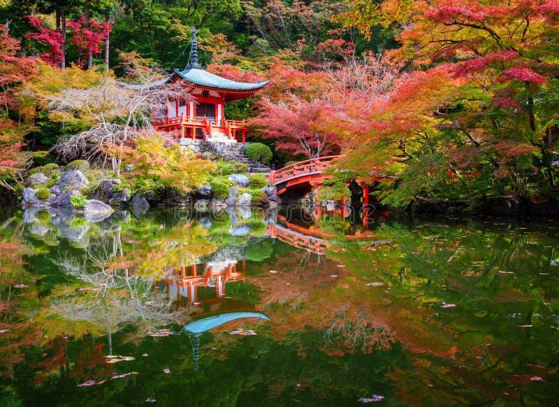 Daigoji tempel i höst, Kyoto, Japan royaltyfria bilder