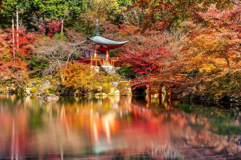 Daigojitempel in de herfst, Kyoto De herfstseizoenen van Japan stock afbeelding
