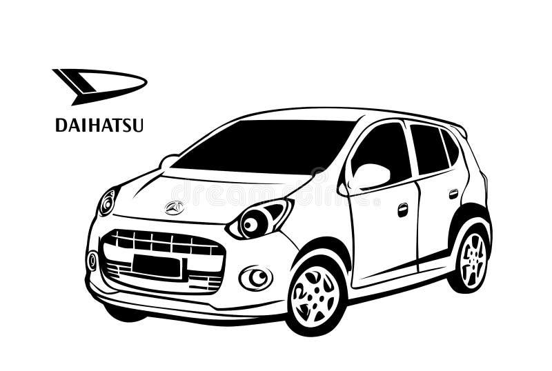 Daihatsu汽车传染媒介设计 免版税库存图片