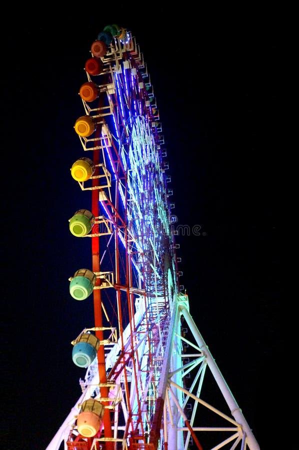 Daikanransha - cidade Ferris Wheel da paleta imagem de stock royalty free