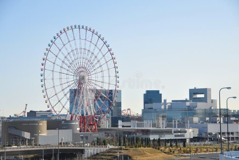 Daikanransha Ferris Toczy wewnątrz Odaiba Tokio, Japonia zdjęcia royalty free