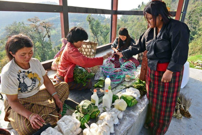 Dailylife del Bhutan fotografia stock