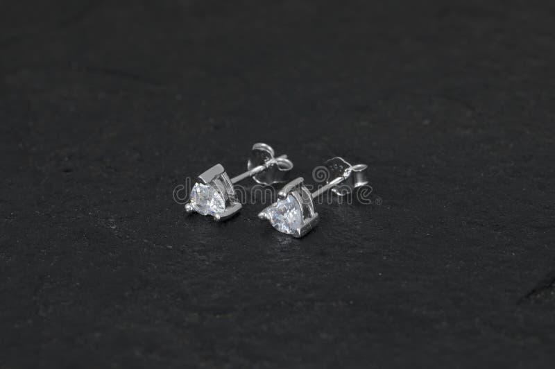Daimond-Ohrring stockfoto