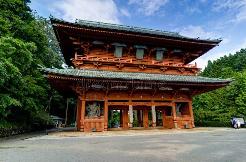 Daimonpoort, de Oude Belangrijkste Ingang aan Koyasan-MT Koya binnen royalty-vrije stock foto's
