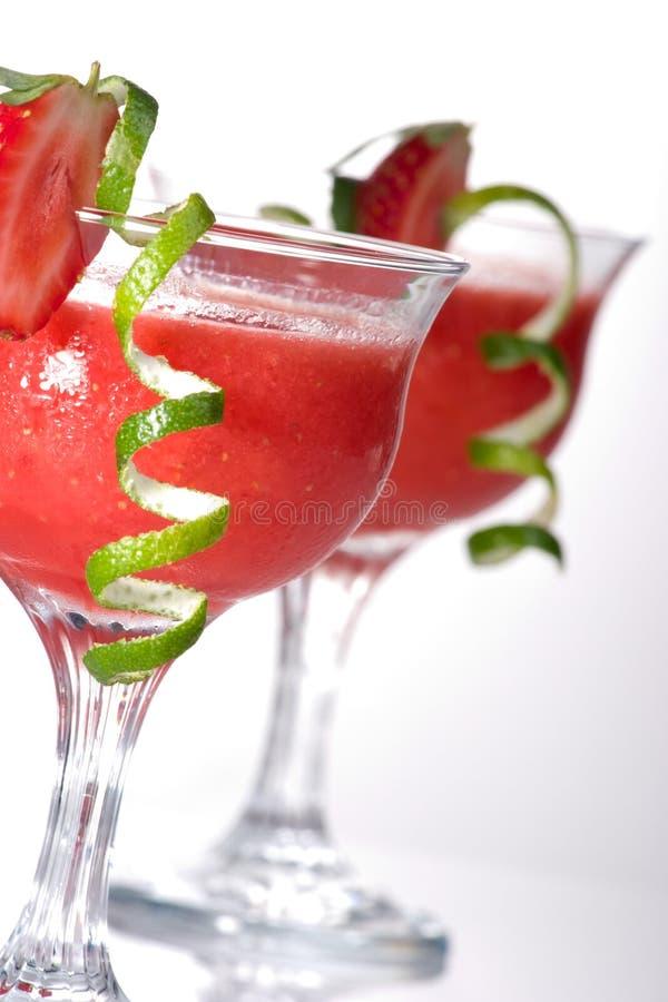 Daiquiri de fraise - la plupart de serie populaire de cocktails images libres de droits