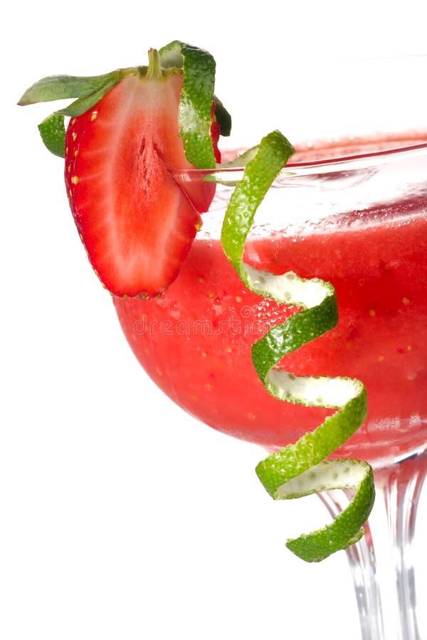 Daiquiri de morango - a maioria de serie popular dos cocktail imagens de stock royalty free