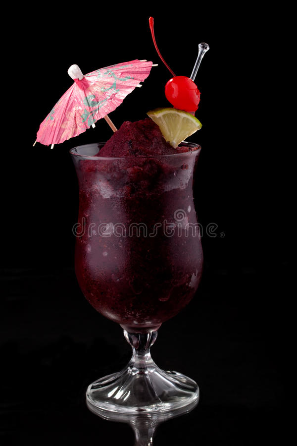 Daiquiri del mirtillo - la maggior parte della serie popolare dei cocktail immagini stock libere da diritti